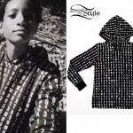 Willow Smith: Black Letter-Print Hoodie