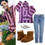 Willow Smith: Poncho Hoodie, Ugg Boots