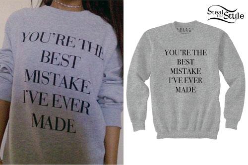 Ariana Grande: Best Mistake Crewneck Sweater