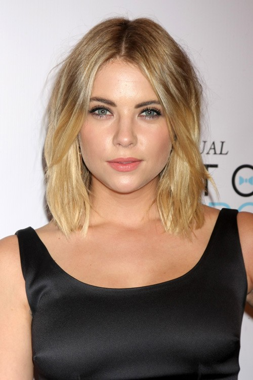 Ashley Benson Wavy Golden Blonde Long Bob Hairstyle Steal Her Style