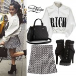 Becky G: Rich Jacket, Playboy Skirt