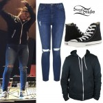 Becky G: Ripped Jeans, Converse Sneakers