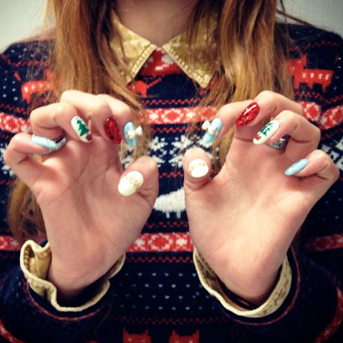 Bella Thorne Light Blue, Red, White Bows, Charms ...