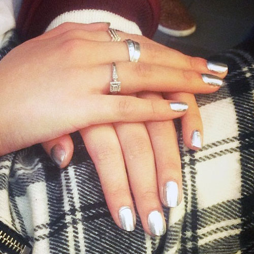 Bella Thorne Silver Nails | Steal Her Style