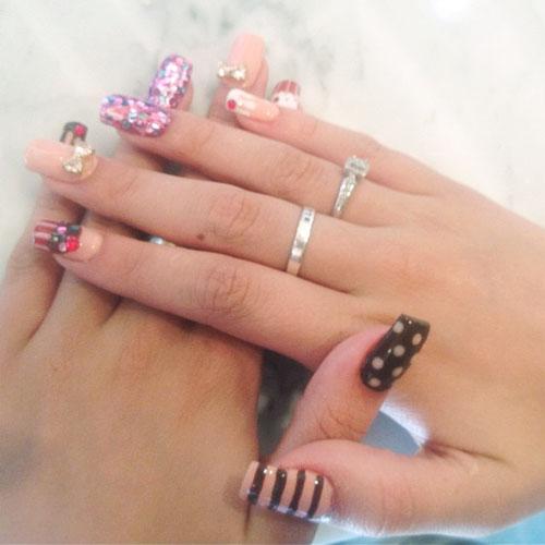 Дизайн ногтей звезд фото