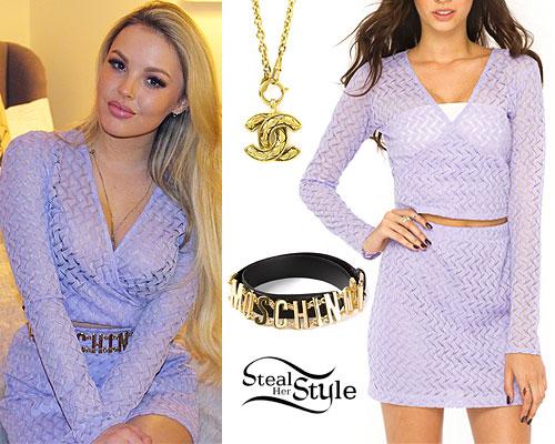Betsy-Blue English: Lavender Wrap Top & Skirt