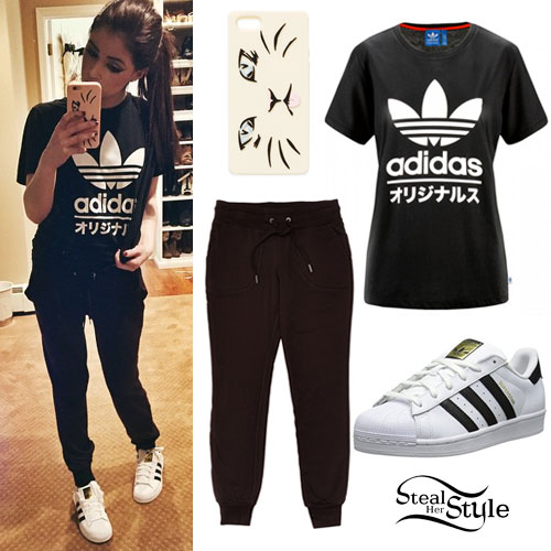 Chrissy Costanza: Adidas Tee & Sneakers