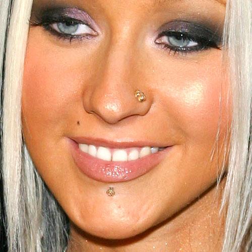 Christina Aguilera Labret Nose Nostril Piercing Steal