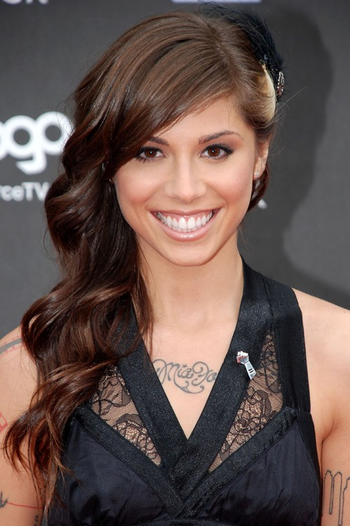 Platinum Blonde Selena Gomez >> Christina Perri's Hairstyles & Hair Colors | Steal Her Style