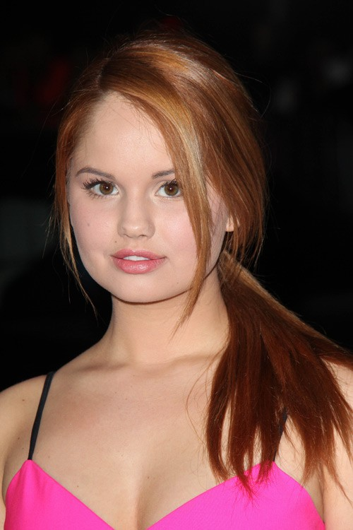 Debby Ryan Straight Ginger Face-Framing Pieces, Low Ponytail, Ponytail ... Vanessa Hudgens Straight Hair