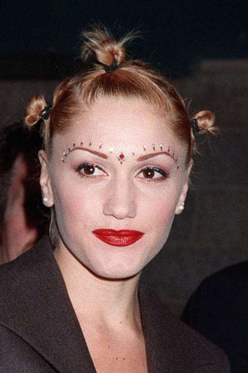 Gwen Stefani Straight Medium Brown Multiple Buns Hairstyle