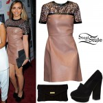Jade Thirlwall: Leather Dress, Platform Loafers