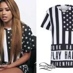Jasmine Villegas: Black & White Flag Tee