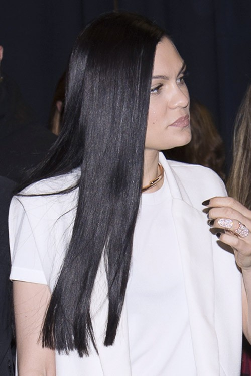Jessie J Straight Black Flat Ironed Hairstyle Steal Her