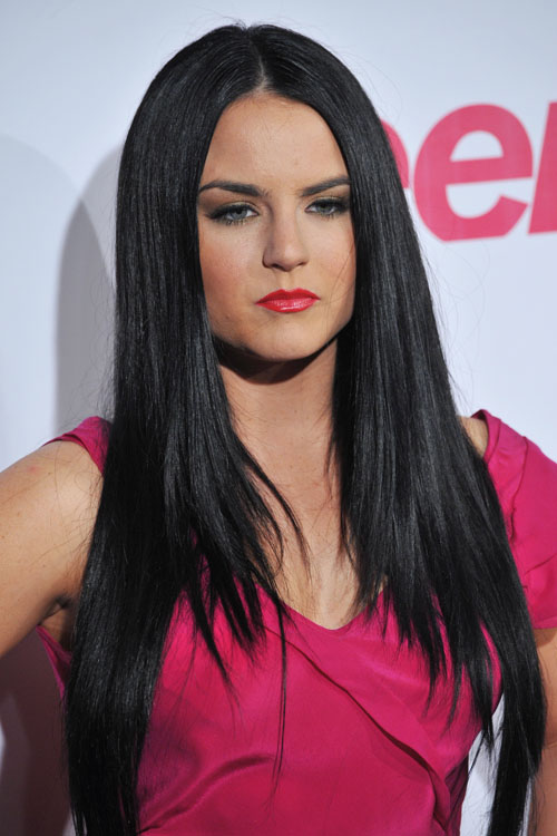 Jojo Levesque Straight Black Angled Flat Ironed Hairstyle Steal Her Style