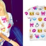Jordyn Jones: Emoji Print T-Shirt