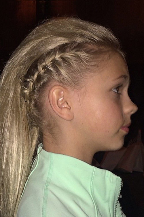 Jordyn Jones Straight Ash Blonde French Braid Mini Braids