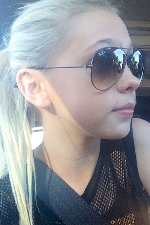 Jordyn Jones Straight Platinum Blonde Ponytail Hairstyle