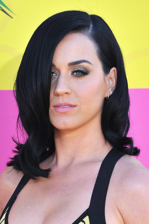katy perry hair style katy perry wavy black bob hairstyle style 6349