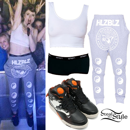 Kiesza: Ying Yang Sweatpants Outfit