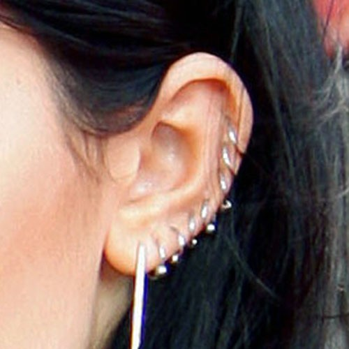 Kylie Jenner Auricle Rim Ear Lobe Helix Cartilage Upper Piercing Steal Her Style