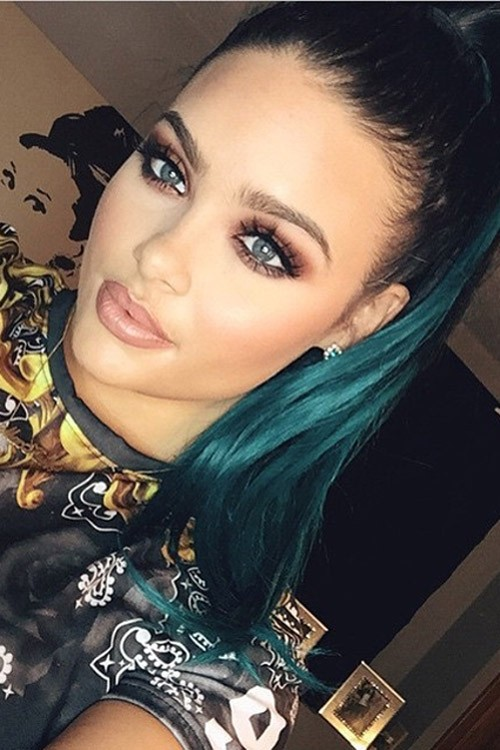 Kylie Jenner Straight Black Extensions High Ponytail Ponytail Two