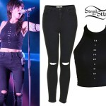 LIGHTS: 'Day Becomes Night' Crop Top