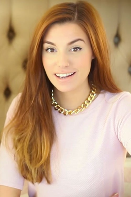 Marzia Bisognin Straight Auburn Ombré Hairstyle | Steal ...