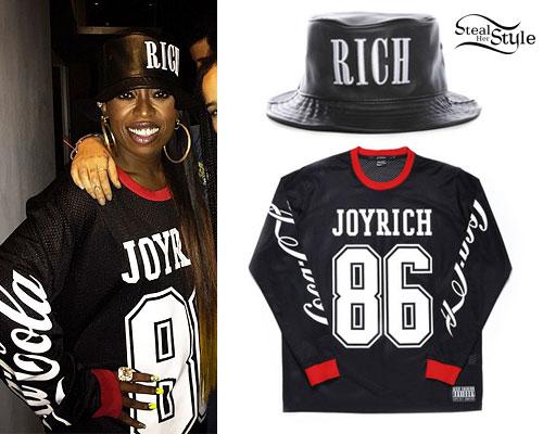 Missy Elliot: Rich Hat, Coca-Cola Jersey