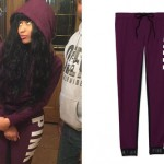 Nicki Minaj: Maroon 'PINK' Sweatpants