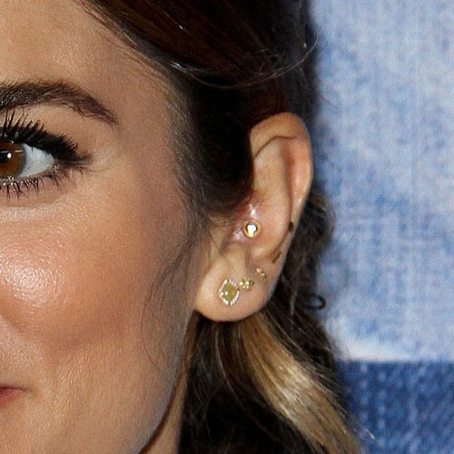 nikki reed auriclerim ear lobe inner conch upper lobe