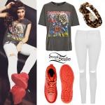 Parisa Tarjomani: Iron Maiden Tee, Red Sneakers
