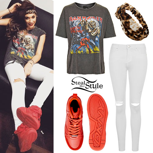 Parisa Tarjomani: Iron Maiden Tee, Red Sneakers