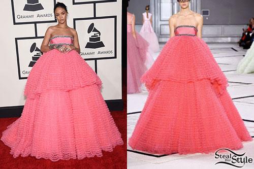Rihanna: 2015 Grammy Awards Outfits