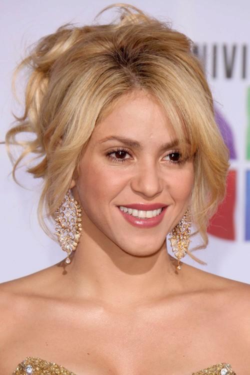 Shakira Wavy Honey Blonde Face Framing Pieces Updo
