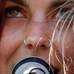 sierra-kusterbeck-nose-piercing-double-rings
