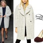 Taylor Swift: Textured Coat, Suede Pumps