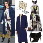Victoria Justice: Floral Dress, Pointed Bootie