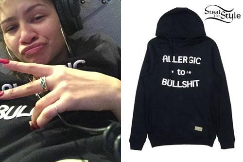 Zendaya Wearing Adidas Hoodie