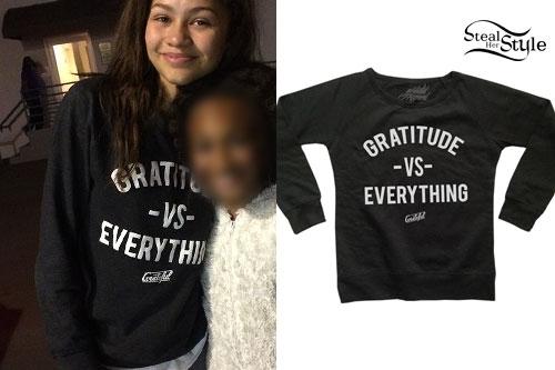 Zendaya: 'Gratitude vs Everything' Top