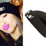 Zendaya: Black Jeweled Beanie