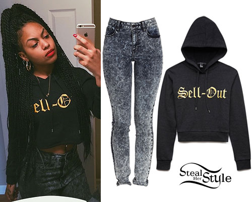 Bahja Rodriguez: 'Sell-Out' Cropped Hoodie
