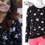Becky G: Star Print Sweatshirt