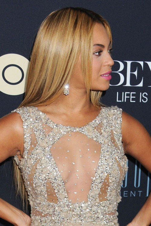 Beyonc Straight Light Brown All Over Highlights Flat Ironed
