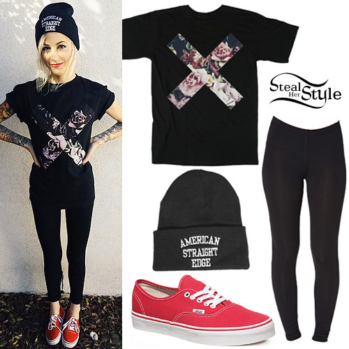 Carah Faye Charnow: Roses X Tee, Red Vans