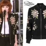 Carly Rae Jepsen: Floral Bomber Jacket