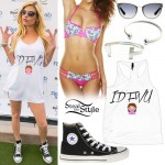 Chanel West Coast: IDFWU Tank, Floral Bikini