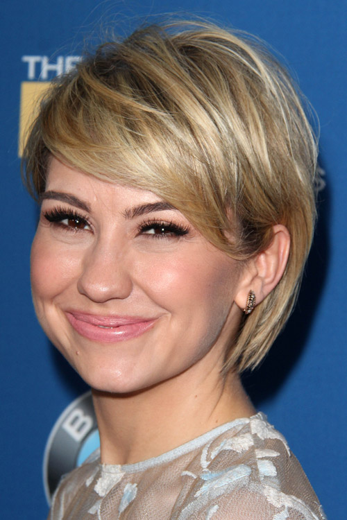 Chelsea Kane Straight Medium Brown All Over Highlights