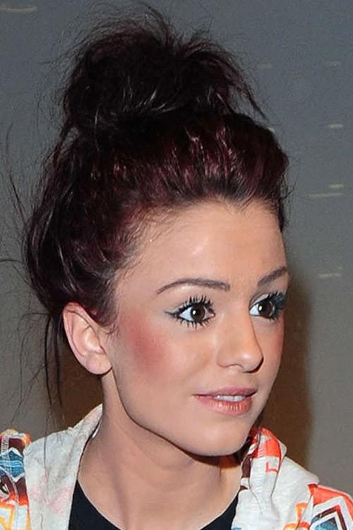 Cher Lloyd Straight Auburn Bun, Updo Hairstyle | Steal Her Style Vanessa Hudgens Straight Hair
