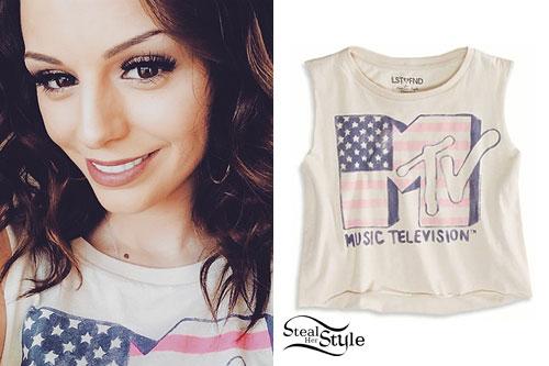 Cher Lloyd: MTV American Flag Tank